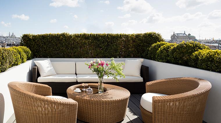 hyatt paris madeleine presidential suite corner terrace