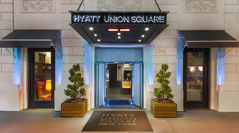 hyatt union square new york entrance