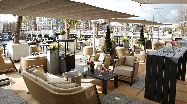 intercontinental amstel amsterdam A Bar terrace