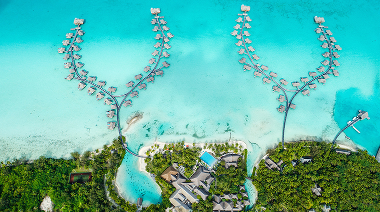 intercontinental bora bora resort thalasso spa aerial view