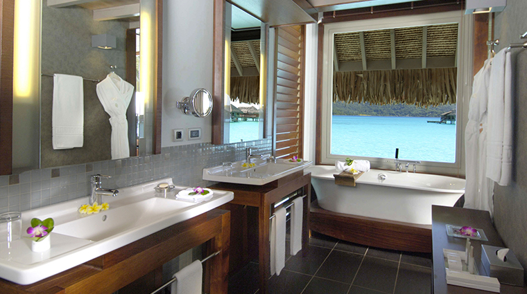 intercontinental bora bora resort thalasso spa overwater villas bathroom