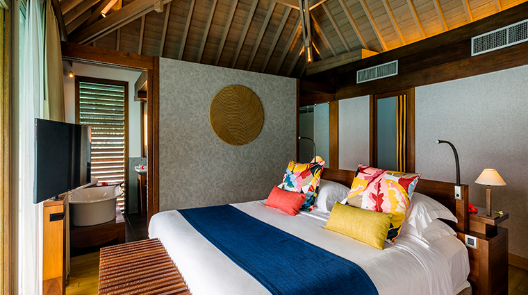 intercontinental bora bora resort thalasso spa overwater villas bedroom