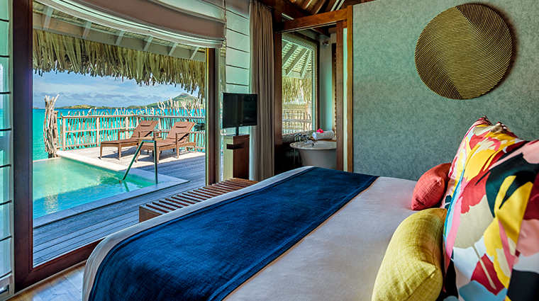 intercontinental bora bora resort thalasso spa villa bedroom view