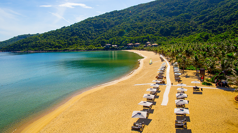 intercontinental danang sun peninsula resort private beach