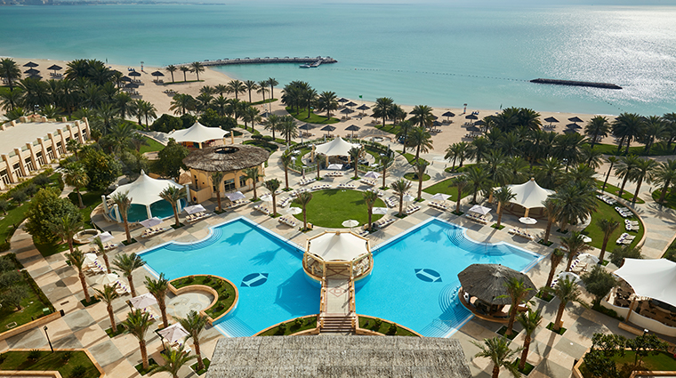 intercontinental doha pool and beach