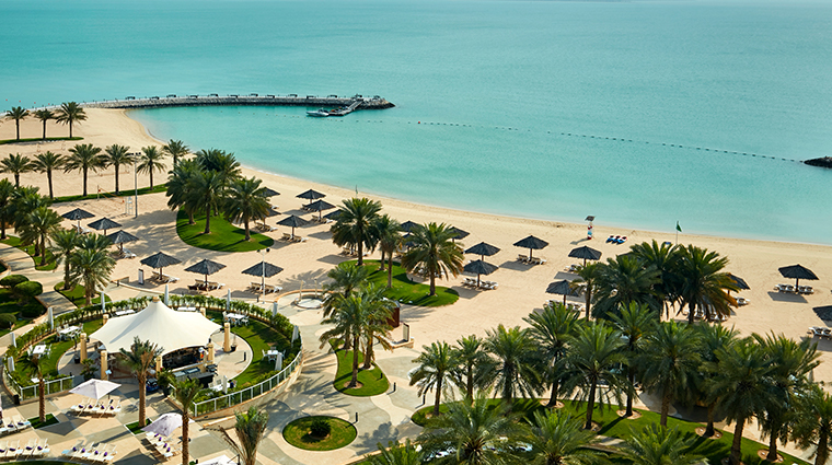 intercontinental doha private beach