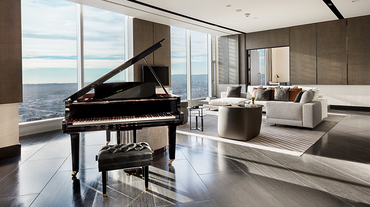 intercontinental los angeles downtown presidential suite piano