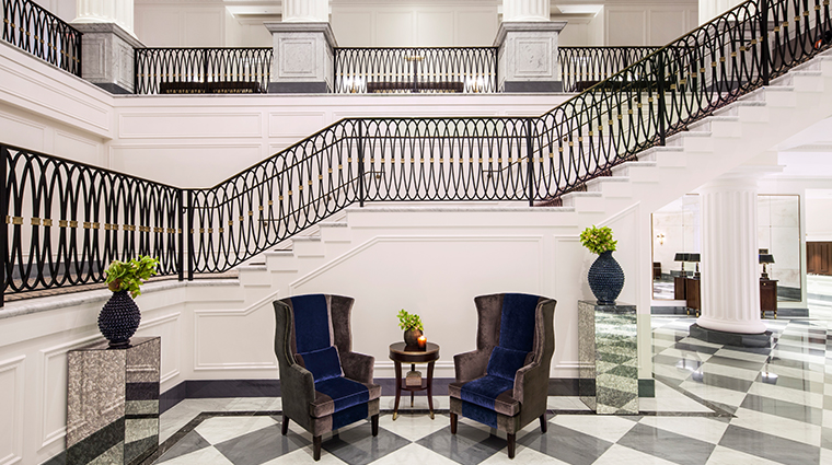 intercontinental new york barclay Grand Staircase