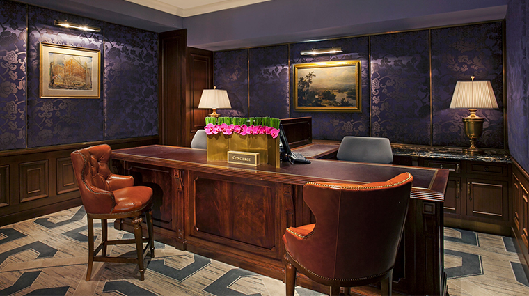 intercontinental new york barclay concierge desk