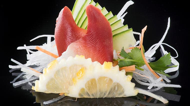 jia orange clam sashimi