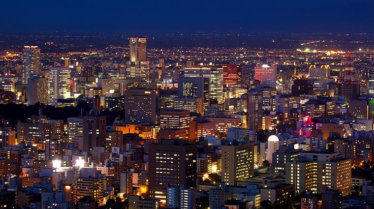 jr tower hotel nikko sapporo city night view