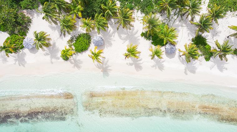 jumby bay island lifestyle beach verhead