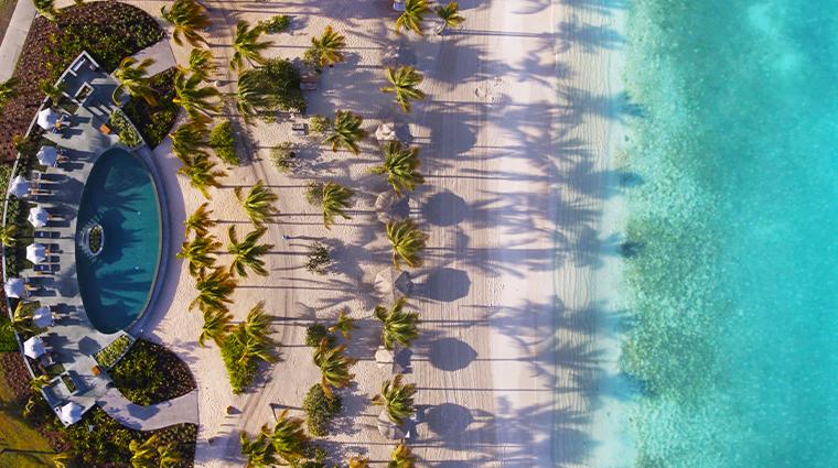 jumby bay island pool overhead