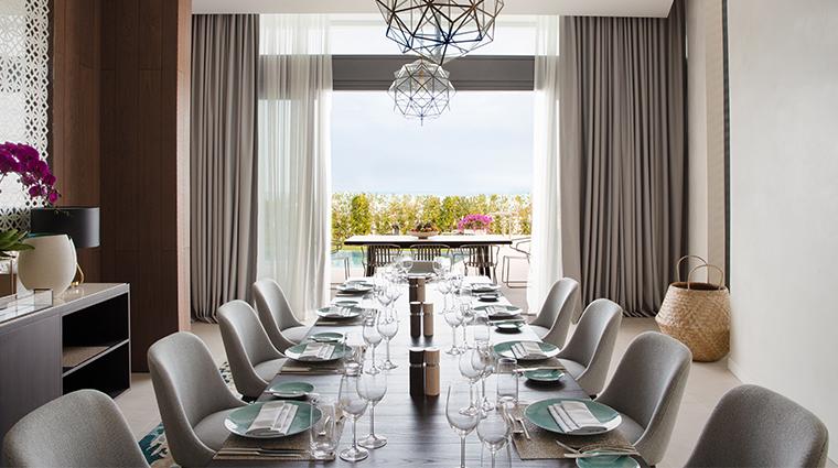 jumeirah saadiyat island resort four bedroom villa dining room