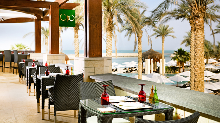 jumeirah messilah beach hotel spa Olio restaurant