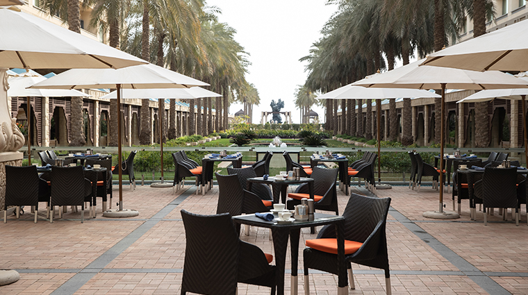 jumeirah messilah beach hotel spa garden cafe