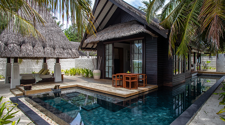 jumeirah vittaveli maldives beach villa exterior pool