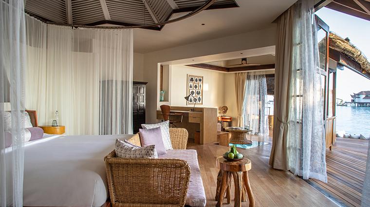 jumeirah vittaveli maldives ocean villa bedroom