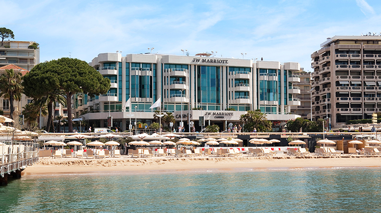 jw marriott cannes exterior beach