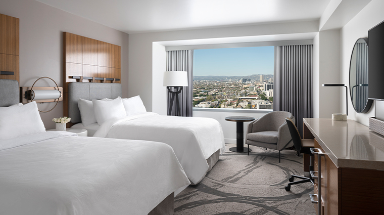 jw marriott los angeles la live new Queen Double Hills View
