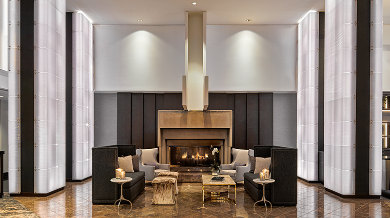 jw marriott san francisco union square new lobby fireplace