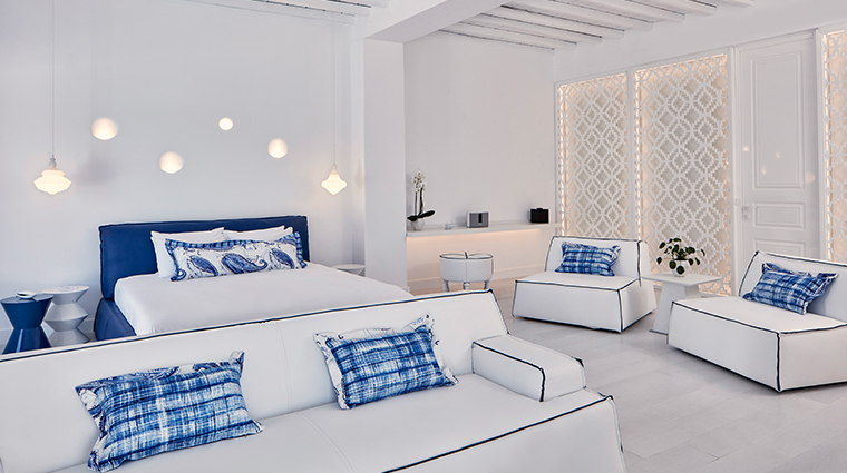 katikies mykonos honeymoon suite guestroom