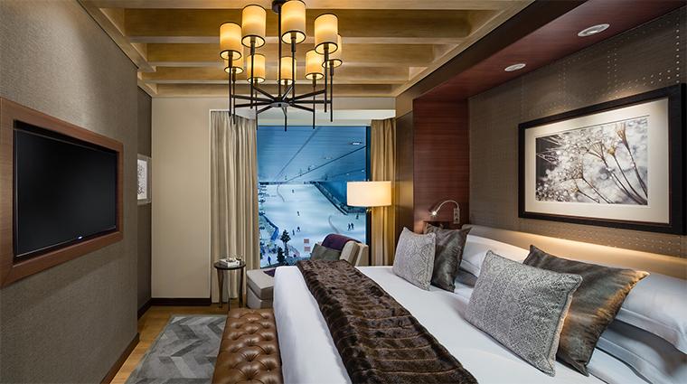 kempinski mall of the emirates aspen ski chalet king bedroom