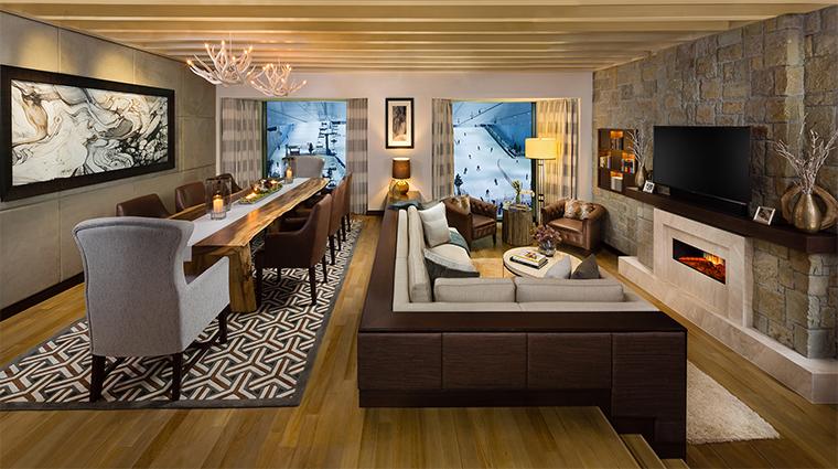 kempinski mall of the emirates aspen ski chalet living room