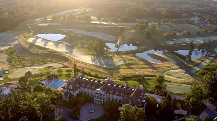 keswick hall and golf club aerial