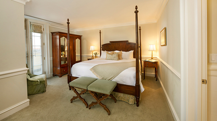 keswick hall and golf club master suite bedroom