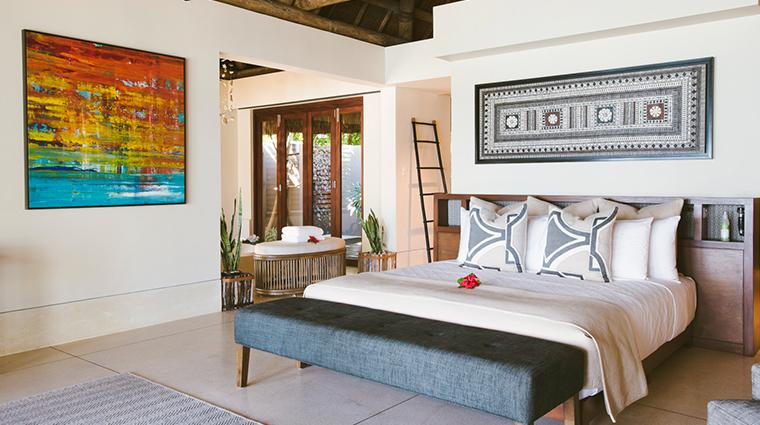 kokomo private island fiji beachfront villa bedroom