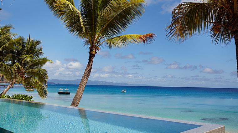 kokomo private island fiji infinity pool view