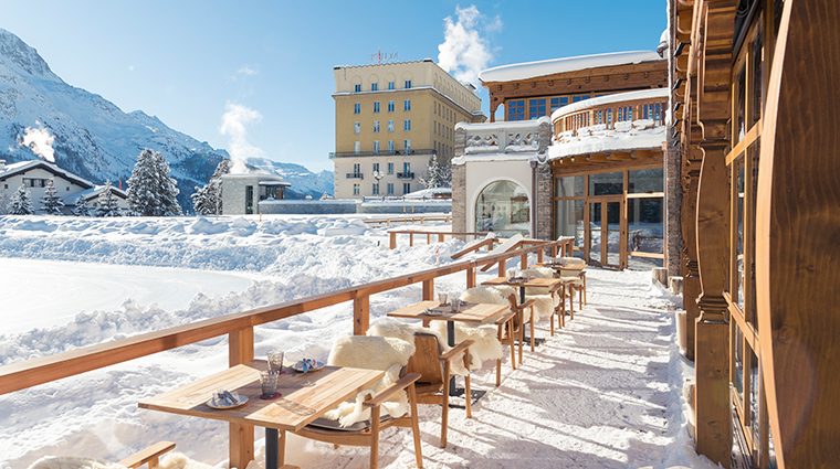 kulm hotel st moritz country club terrace snow