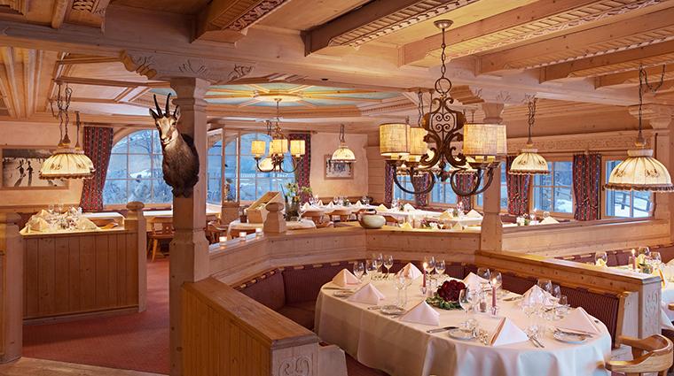 kulm hotel st mortiz Chesa Al Parc dining