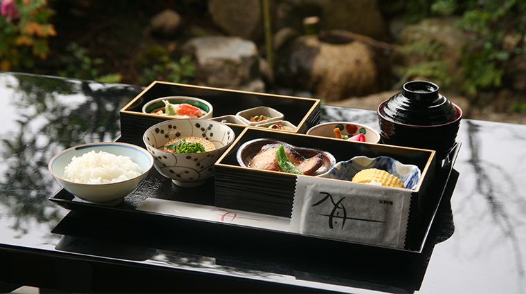 kyoto hotel okura japanese breakfast