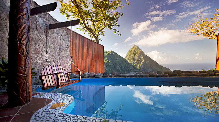 ladera resort saint lucia hilltop suite pool