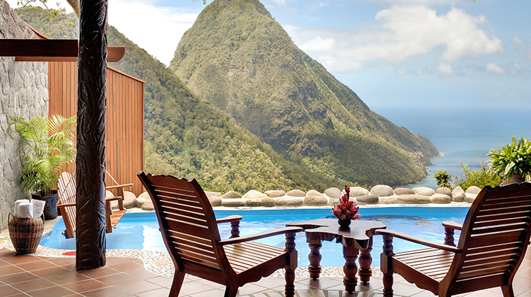 ladera resort saint lucia paradise ridge pool seating