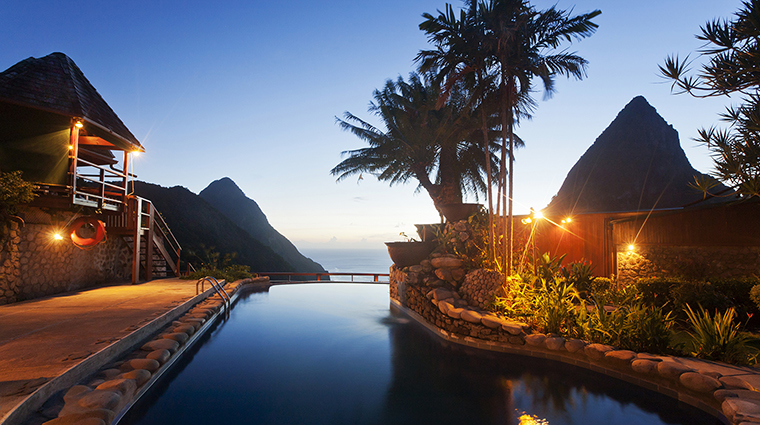 ladera resort saint lucia pool