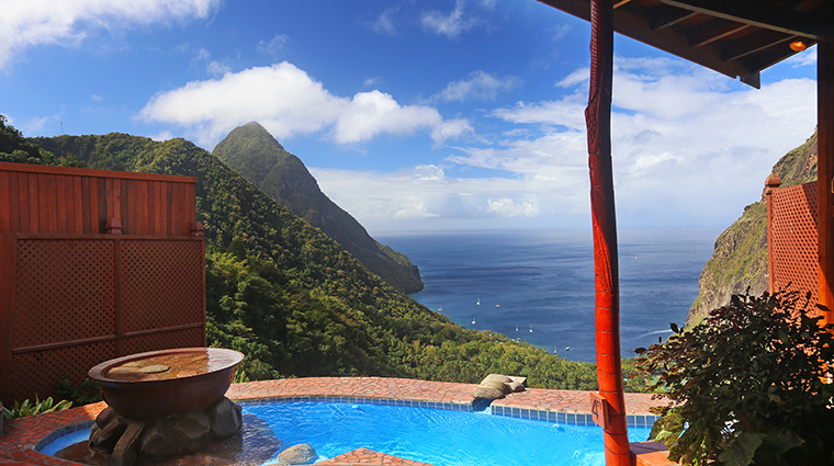 ladera resort saint lucia rainbow suite