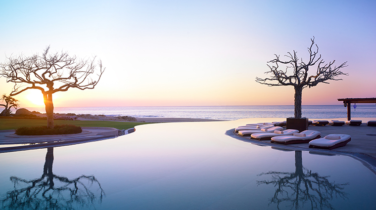 las ventanas al paraiso a rosewood resort pool sunset