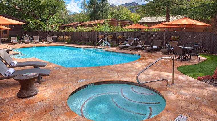 lauberge de sedona swimming pool