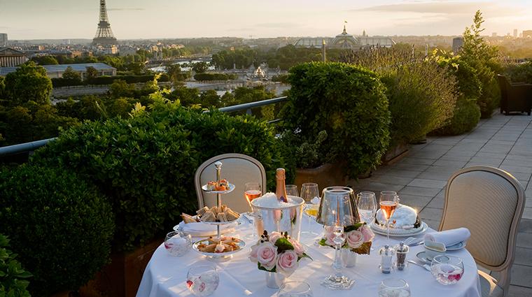 le meurice dorchester collection Belle etoile suite terrace romantique dinner