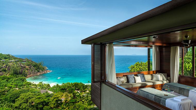 spa at four seasons resort seychelles treatment room view