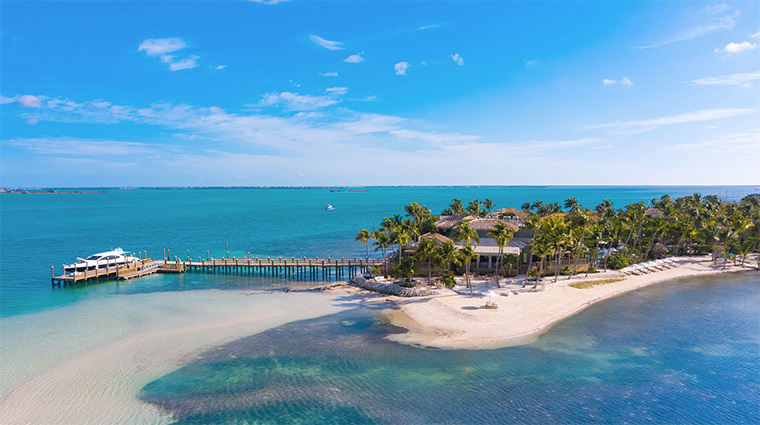 little palm island resort spa aerial