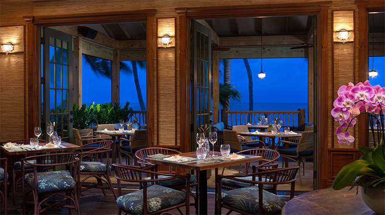 little palm island resort spa dining room