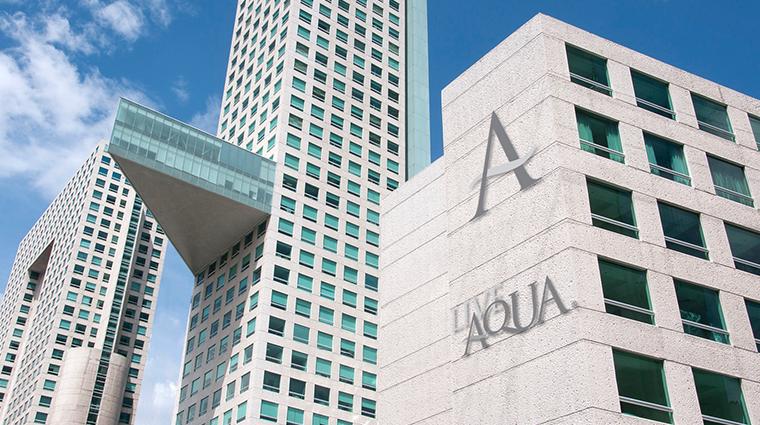 live aqua urban resort mexico facade