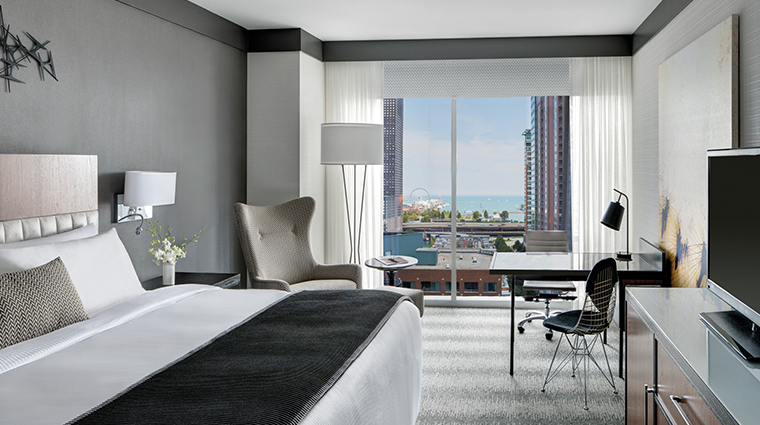 loews chicago hotel premium king guestroom