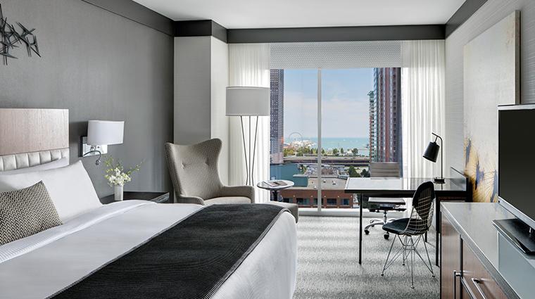 loews chicago hotel premium king guestroom