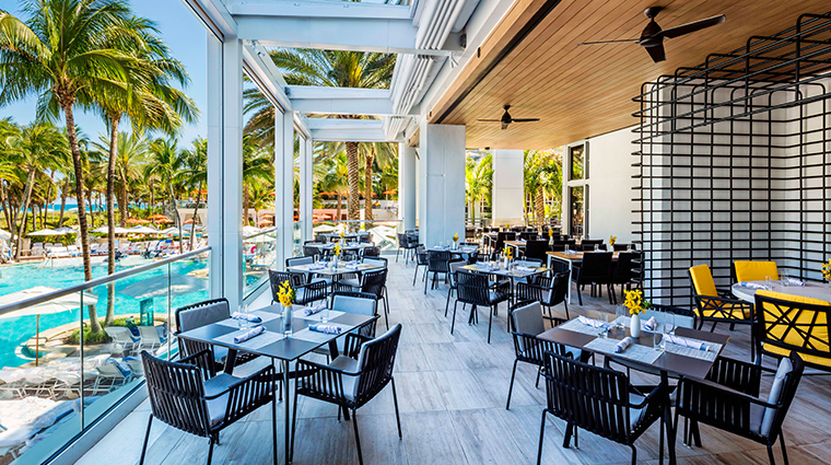 loews miami beach hotel Prestons Market terrace