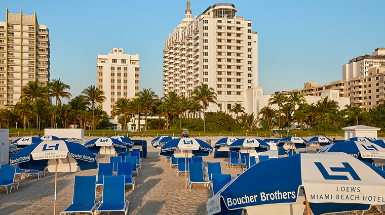 loews miami beach hotel beach umbrellas